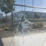 Beschädigung an Eingangstür der Moschee nach dem Angriff